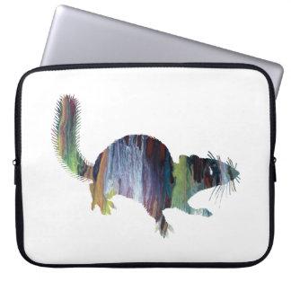 Squirrel art laptop sleeve