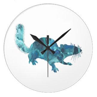 Squirrel art large clock