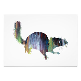 Squirrel art photo print