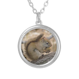 Squirrel Art Silver Plated Necklace