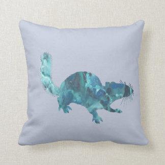 Squirrel art throw pillow