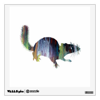 Squirrel art wall decal