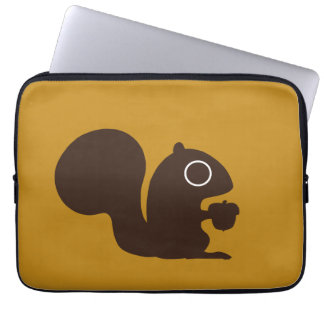 Squirrel - Background Color is Customizable Laptop Sleeve