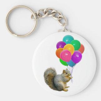 Squirrel Balloons Keychain