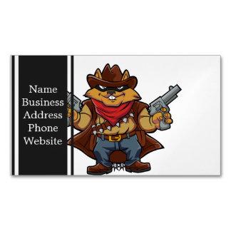 Squirrel Bandit Business Card Magnet
