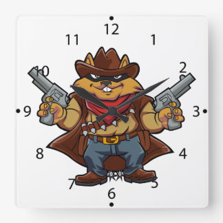Squirrel Bandit Clock