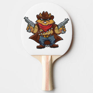 Squirrel Bandit Ping-Pong Paddle