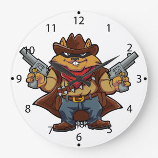 Squirrel Bandit Wall Clocks