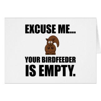 Squirrel Birdfeeder Empty Card