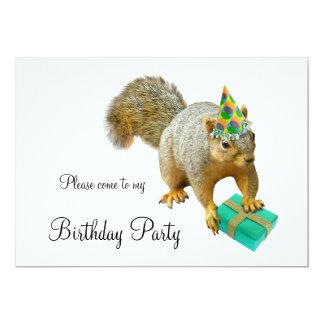 Squirrel Birthday Party Invitation