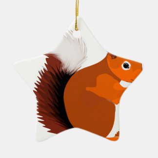 squirrel ceramic ornament