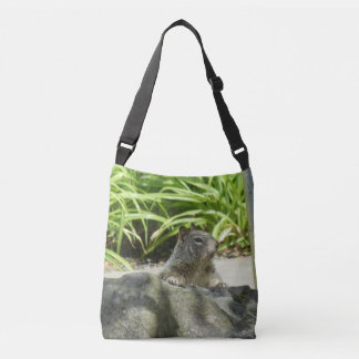 Squirrel Chilling All-Over-Print Cross Body Bag
