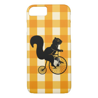 Squirrel, Chipmunk Riding a Penny Farthing Bike iPhone 8/7 Case