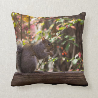 Squirrel Chow Time Throw Pillow