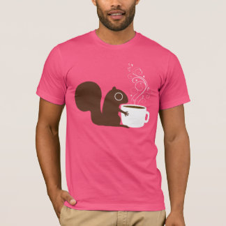 Squirrel Coffee Lover T-Shirt