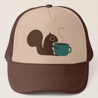 Squirrel Coffee Lover Trucker Hat