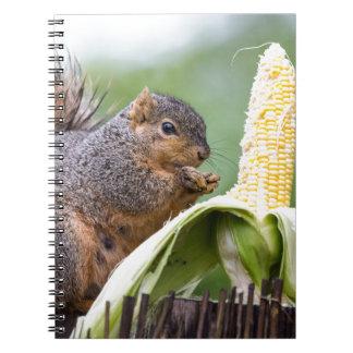 Squirrel Corn Notebook