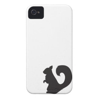 Squirrel critter woodland silhouette graphic iPhone 4 Case-Mate cases