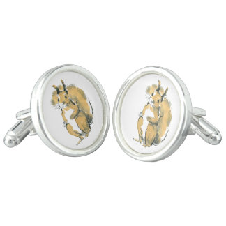 Squirrel Cuff Links