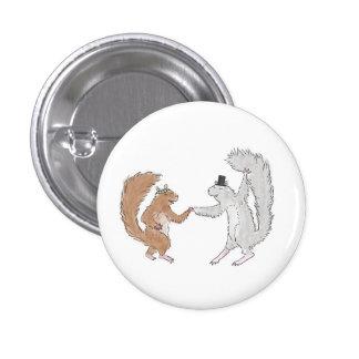 Squirrel dance 1 inch round button