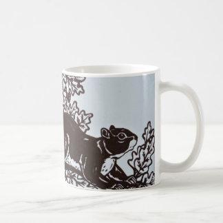 Squirrel Design in Brown and White Elegant Mug