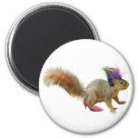 Squirrel Dress Up 2 Inch Round Magnet