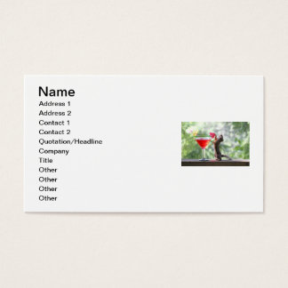 Squirrel Drinking a Cocktail at Happy Hour Business Card