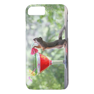 Squirrel Drinking a Cocktail at Happy Hour iPhone 8/7 Case