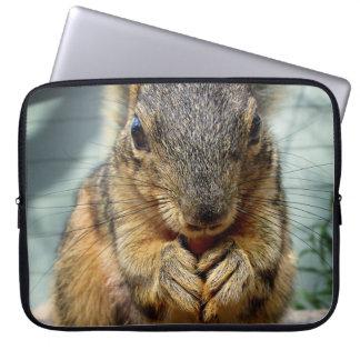 Squirrel Eating 1 Laptop Sleeve