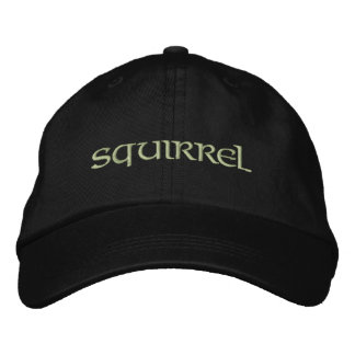 Squirrel Embroidered Hats