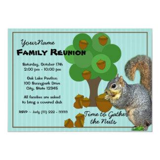 Squirrel Family Reunion Personalized Invitation