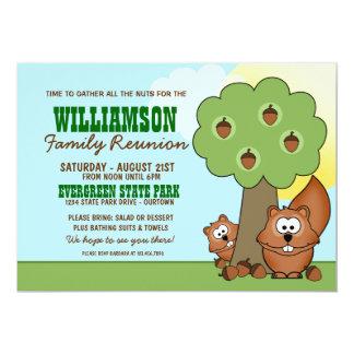 """Squirrel Family Reunion Invitations 5"""" X 7"""" Invitation Card"""