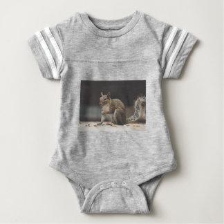 Squirrel Fluffy Baby Bodysuit