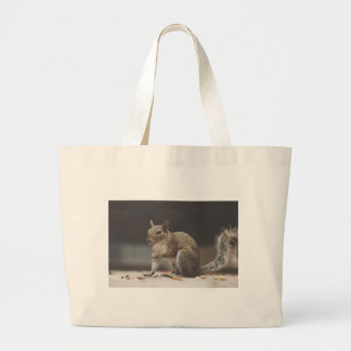 Squirrel Fluffy Large Tote Bag