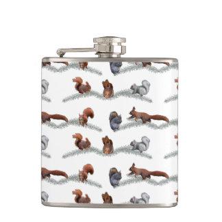 Squirrel Frenzy Hip Flask