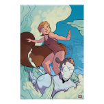 Squirrel Girl Flying With Superior Iron Man Poster