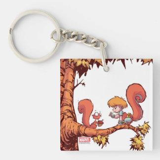 Squirrel Girl Getting Acorn Keychain