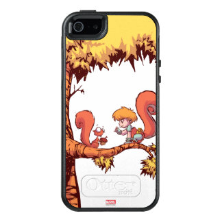 Squirrel Girl Getting Acorn OtterBox iPhone 5/5s/SE Case