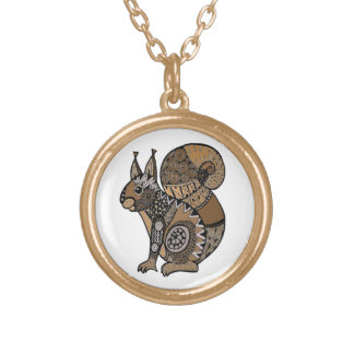Squirrel Gold Plated Necklace