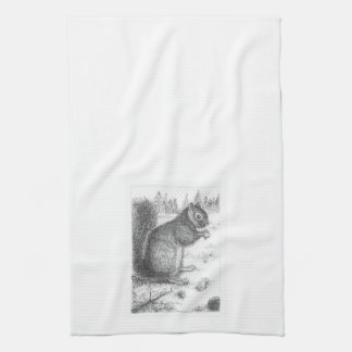 Squirrel Hand Towel