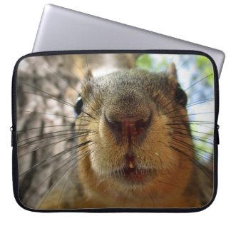 Squirrel Hanging Closeup 1 Laptop Sleeve