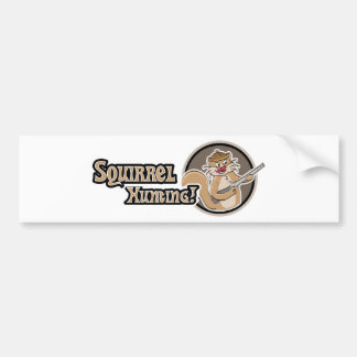 Squirrel Hunting Bumper Sticker