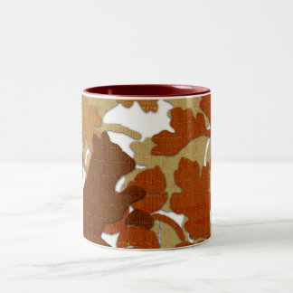 Squirrel in Fabric Two-Tone Coffee Mug