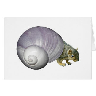 Squirrel in Purple Snail Shell Greeting Card