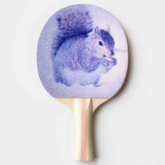 Squirrel in snow Ping-Pong paddle