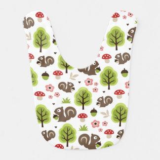 Squirrel in The Oak Forest Pattern Bib