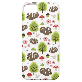 Squirrel in The Oak Forest Pattern iPhone 5 Cases