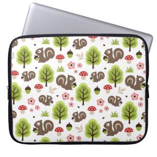 Squirrel in The Oak Forest Pattern Laptop Sleeve
