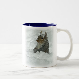 Squirrel in the Snow Mug