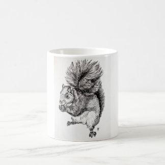 Squirrel Ink Illustration Coffee Mug